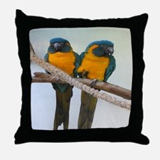 Blue Throated Throw Pillow