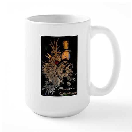"""Season' s greetings"" Large Mug"