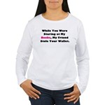 Wallet Women's Long Sleeve T-Shirt