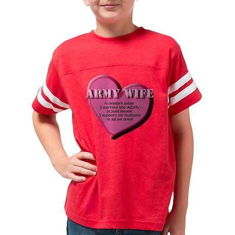 good army wife Youth Football Shirt