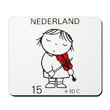 1969 Netherlands Child Violinist Postage Stamp Mou