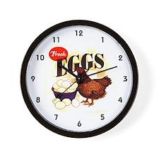 Eggs Ad Wall Clock