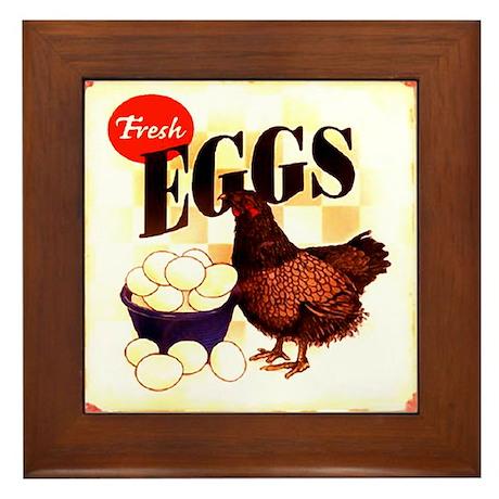 Eggs Ad Framed Tile