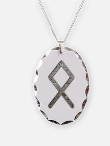 Elder Futhark Rune Odal Necklace