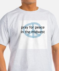 Peace in the Midwest Ash Grey T-Shirt