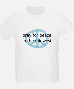 Peace in the Midwest Kids T-Shirt