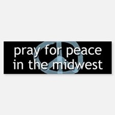 Peace in the Midwest Bumper Bumper Bumper Sticker