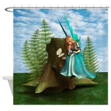 Funny Fairy woodlands Shower Curtain