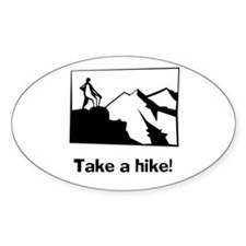 TAKE A HIKE Oval Decal