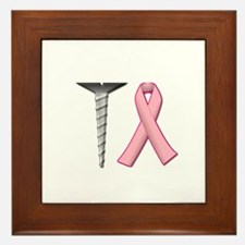 Screw Breast Cancer! Framed Tile