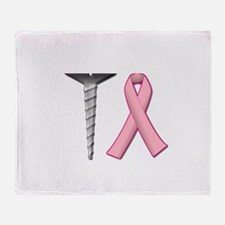 Screw Breast Cancer! Throw Blanket