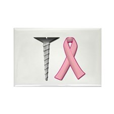 Screw Breast Cancer! Rectangle Magnet