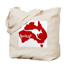 Aussie Roo Red Tote Bag