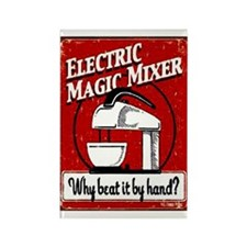 Electric Mixer Ad Rectangle Magnet