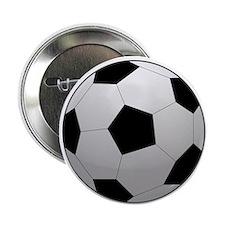 """Soccer Ball 2.25"""" Button (10 pack)"""