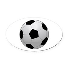 Soccer Ball Oval Car Magnet