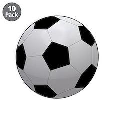"""Soccer Ball 3.5"""" Button (10 pack)"""