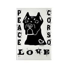 Peace Love Corso Rectangle Magnet
