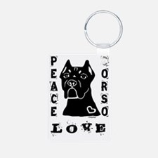 Peace Love Corso Keychains