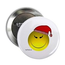 CHEEKY Christmas Happy Face Button