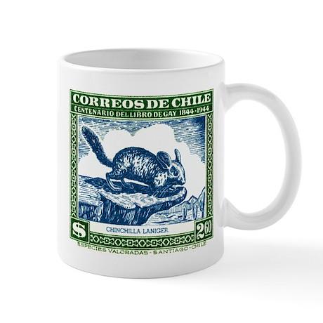 1948 Chile Long-Tailed Chinchilla Postage Stamp Mu