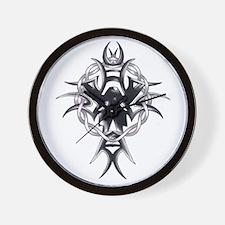 Celtic Cross Tribal Tattoo Wall Clock