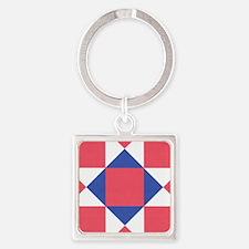 Ohio Star Square Keychain