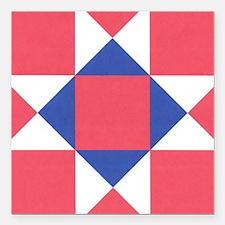"""Ohio Star Square Car Magnet 3"""" x 3"""""""