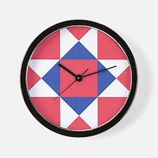 Ohio Star Wall Clock