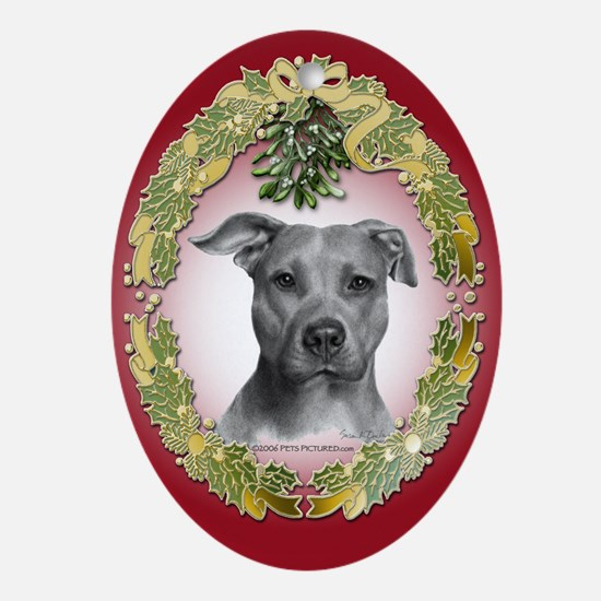 American Pit Bull Terrier Oval Ornament