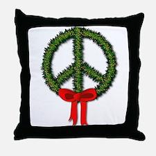 Peace Wreath Throw Pillow