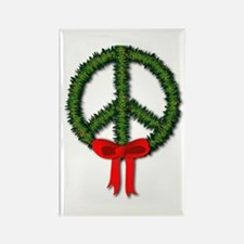 Peace Wreath Rectangle Magnet