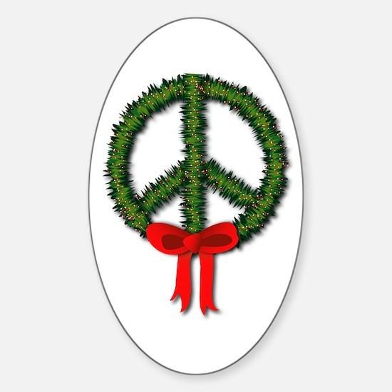 Peace Wreath Oval Decal
