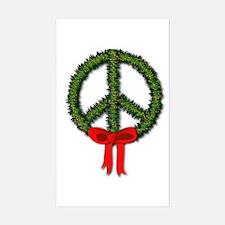 Peace Wreath Rectangle Decal