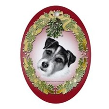 Jack Russell Terrier Oval Ornament