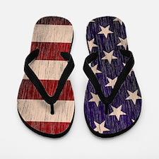 Stars and Stripes barnwood Flip Flops