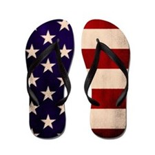Stars and Stripes Artistic Flip Flops