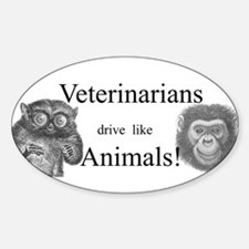 Veterinary Bumper Oval Decal
