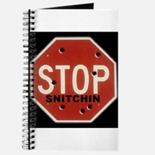 Cute Stop snitching Journal