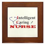 ICU Nurse Framed Tile
