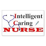 ICU Nurse Rectangle Sticker