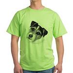 Jack (Parson) Russell Terrier Green T-Shirt