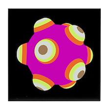 Electric Fuschia KATAMARI BALL Tile Coaster