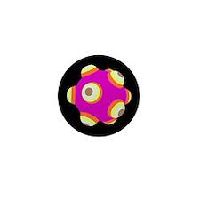 Electric Fuschia KATAMARI BALL Mini Button