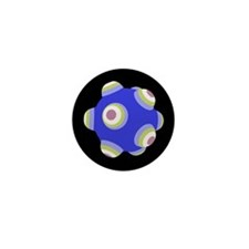 Ballistic Blue KATAMARI BALL Mini Button