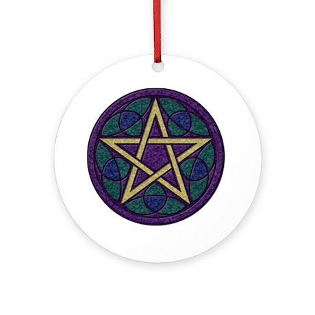 Purple Pentacle Ornament (Round)