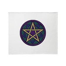 Purple Pentacle Throw Blanket