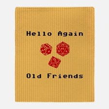 Greetings With Roleplaying Dice Throw Blanket