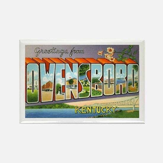 Owensboro Kentucky Greetings Rectangle Magnet