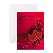 Missing you on Valentines Day Greeting Card
